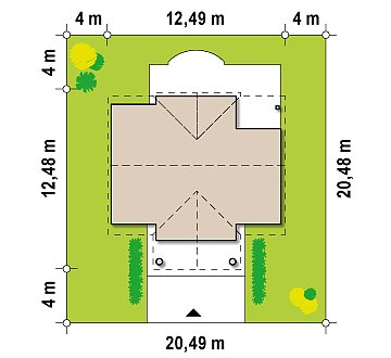 Аккуратный дом с мансардой и дополнительной спальней на первом этаже. план помещений 1
