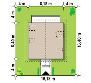 Версия проекта Z1 с отделкой фасадов из кирпича. план помещений 1