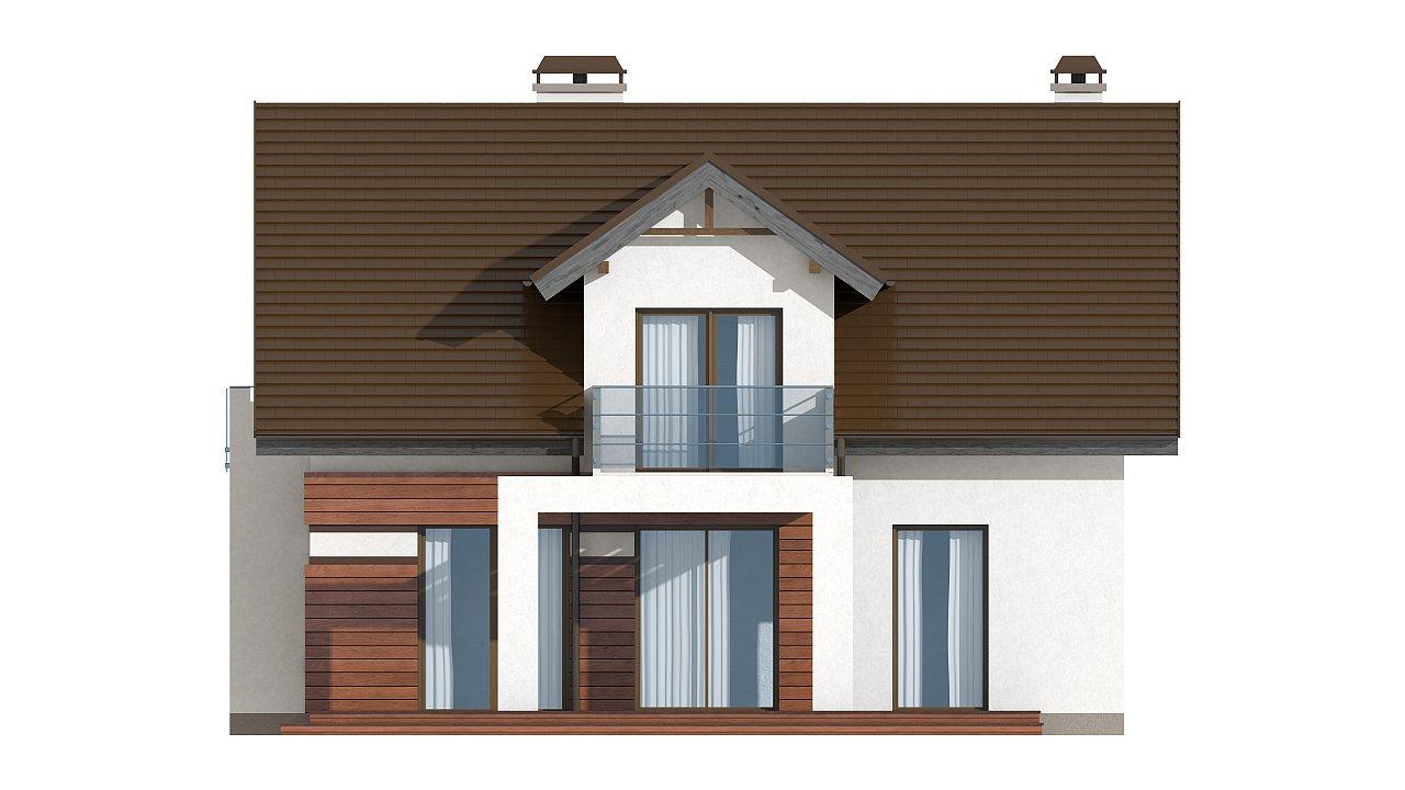 Версия проекта Z28 с небольшими изменениями в планировке, современным дизайном фасадов. - фото 5