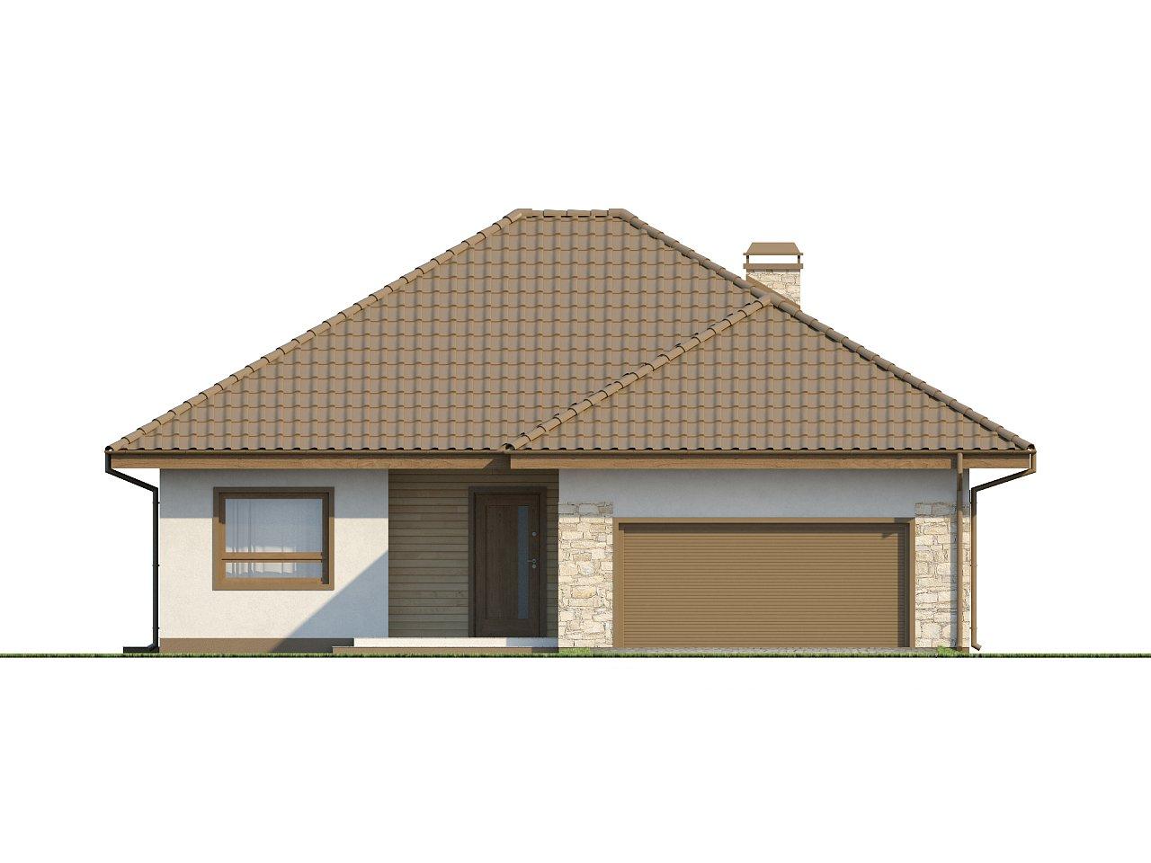 Практичный одноэтажный дом с большим гаражом, просторной гостиной и двумя спальнями. 13