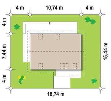 Версия проекта Z225 c отделкой фасадов облицовочным кирпичом. план помещений 1