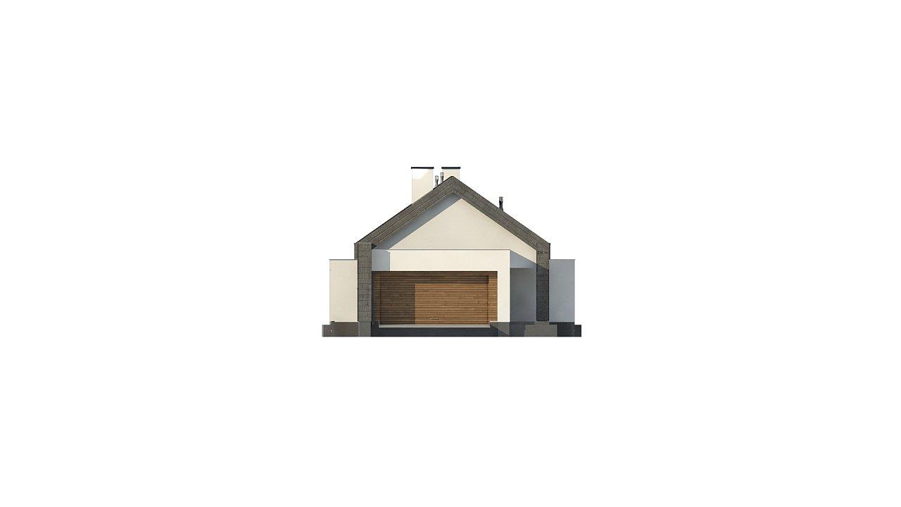 Современный дом с двускатной крышей на узком участке - фото 19