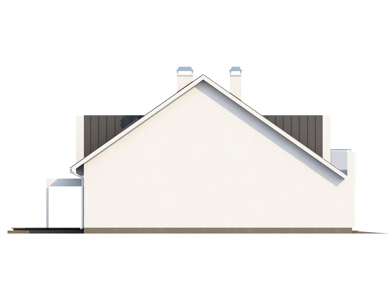 Стильный комфортный дом современного дизайна со встроенным гаражом. 5