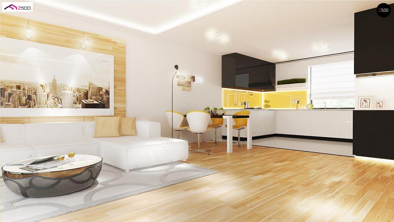 Проект выгодного одноэтажного дома с возможностью адаптации чердачного помещения. 6