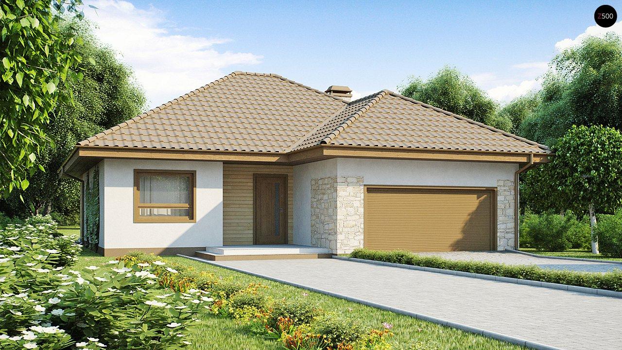 Практичный одноэтажный дом с большим гаражом, просторной гостиной и двумя спальнями. 2