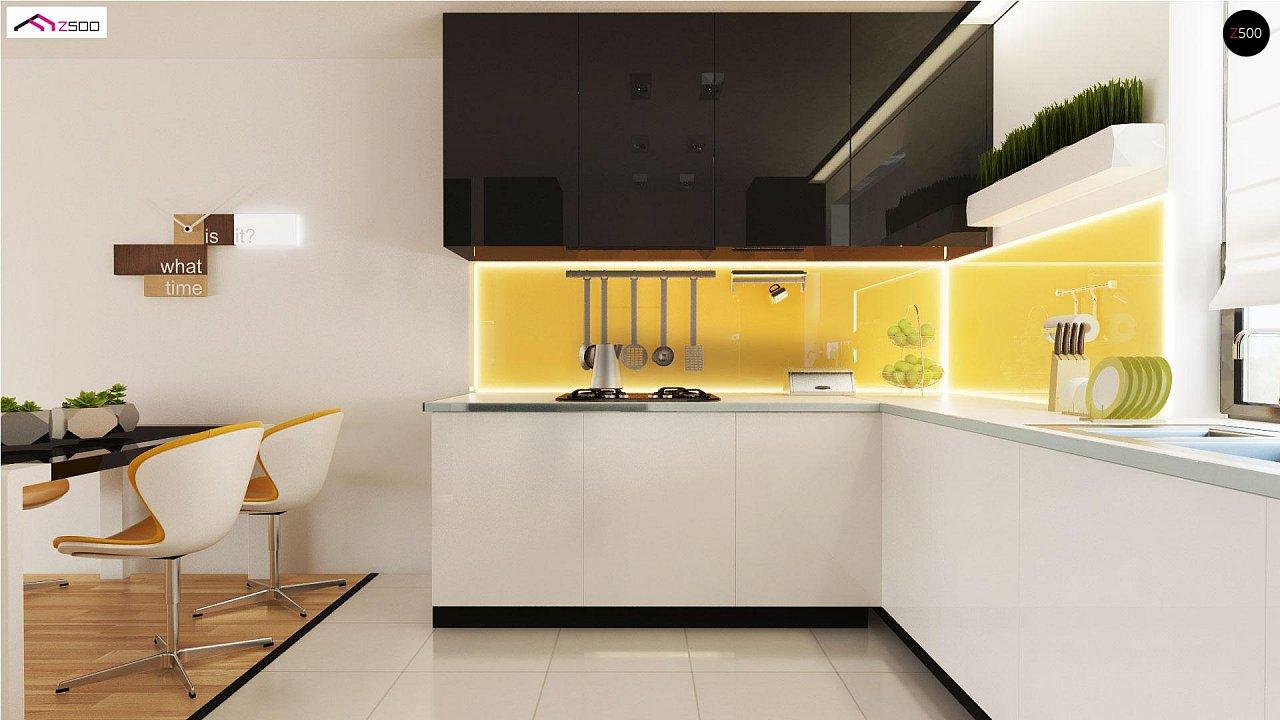 Проект выгодного одноэтажного дома с возможностью адаптации чердачного помещения. 9