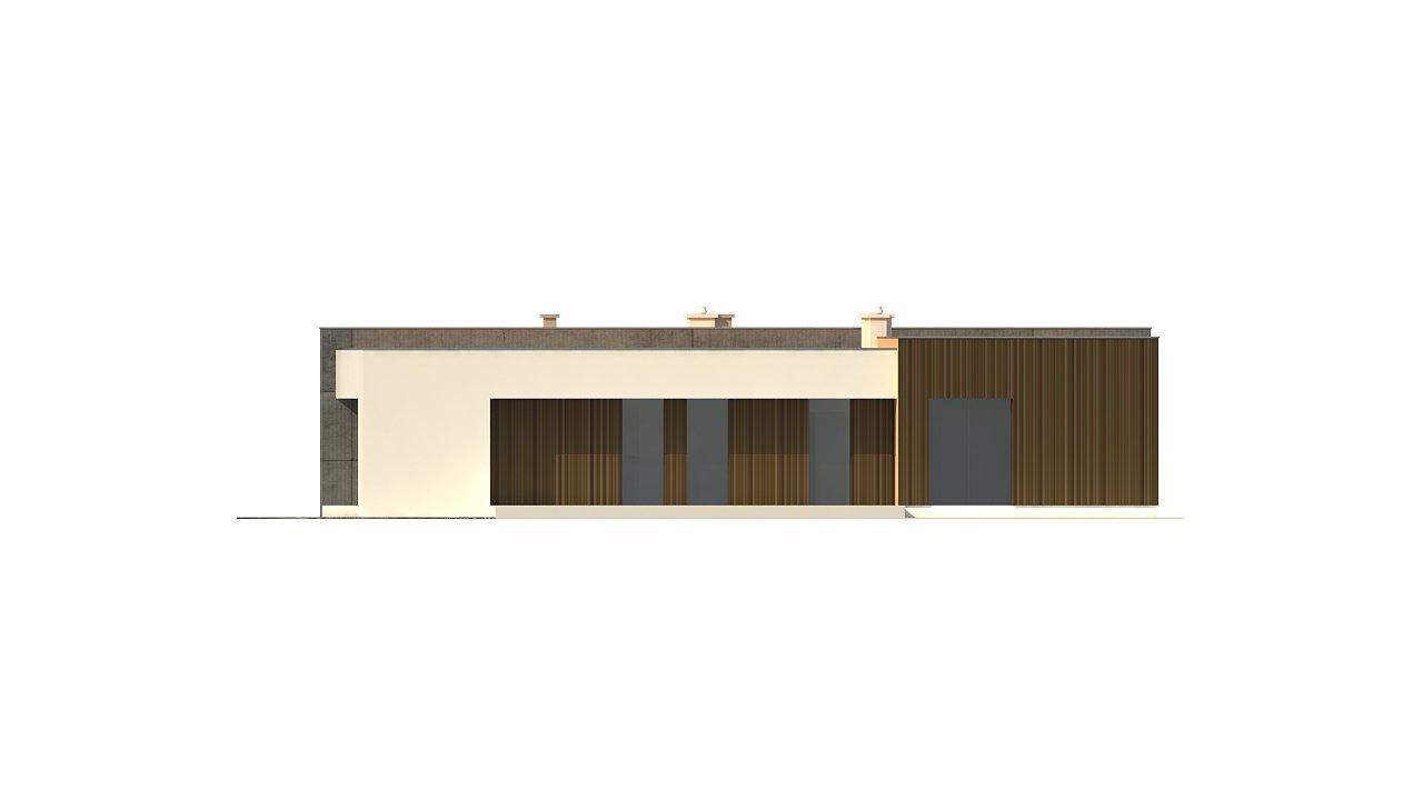 Подвариант одноэтажного дома Zx49 с гаражом для двух машин. 24