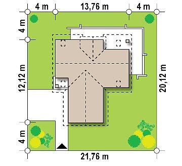 Стильный и аккуратный мансардный дом с гаражом для двух машин. план помещений 1