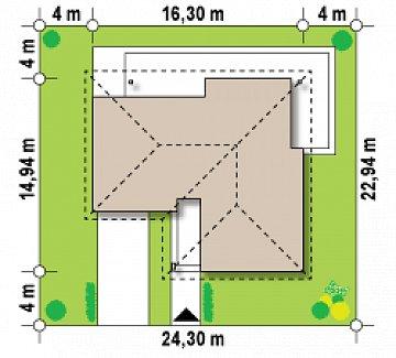 Версия Z204 в зеркальном отображении план помещений 1