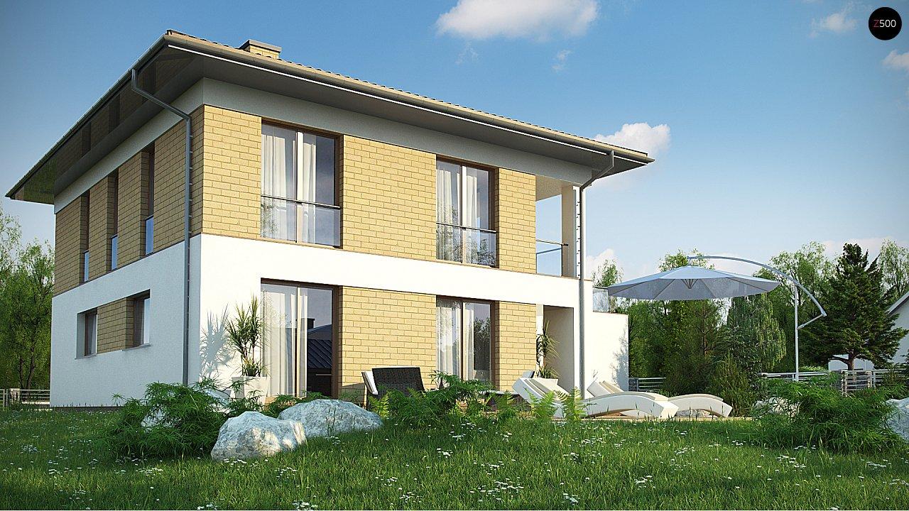 двухэтажный дом с гаражом на две машины в классическом стиле. 3