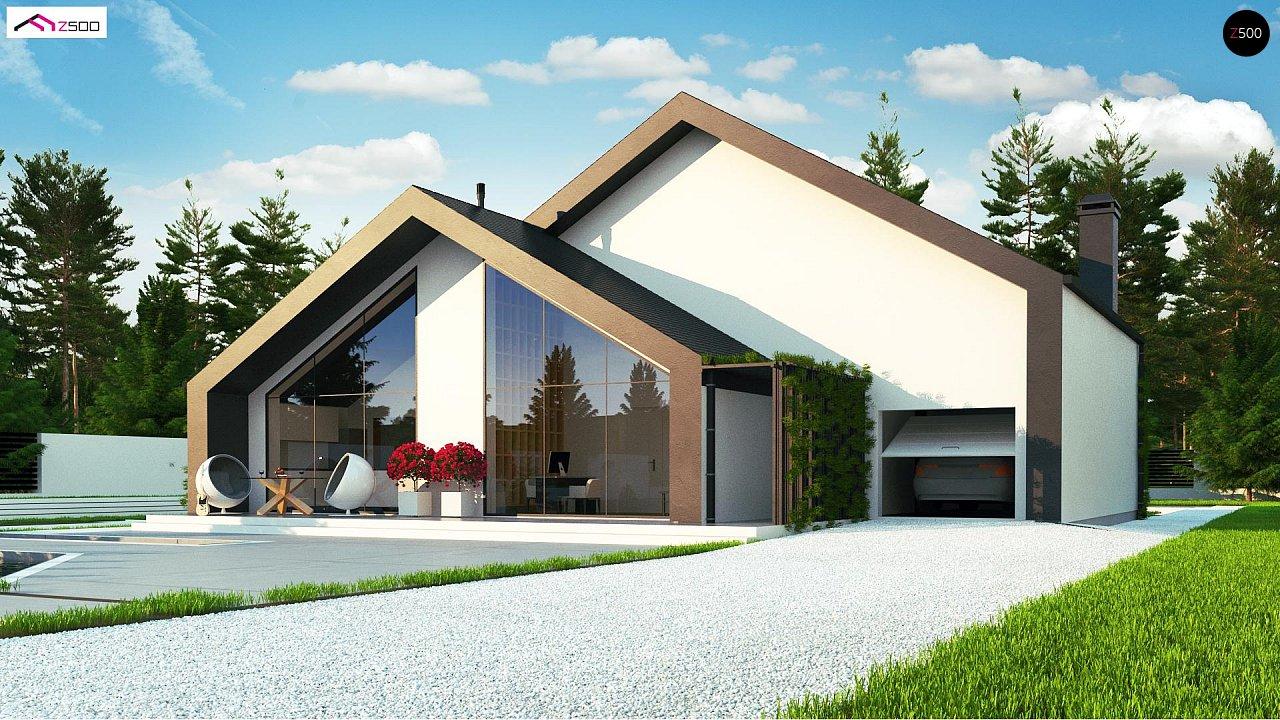 Современный мансардный дом со вторым светом - фото 6