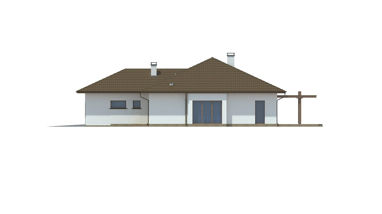 Удобный функциональный одноэтажный дом с гаражом для двух автомобилей. 9