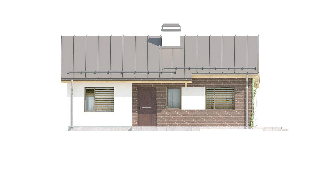 Простой и недорогой в строительстве одноэтажный дом небольшой площади. 16