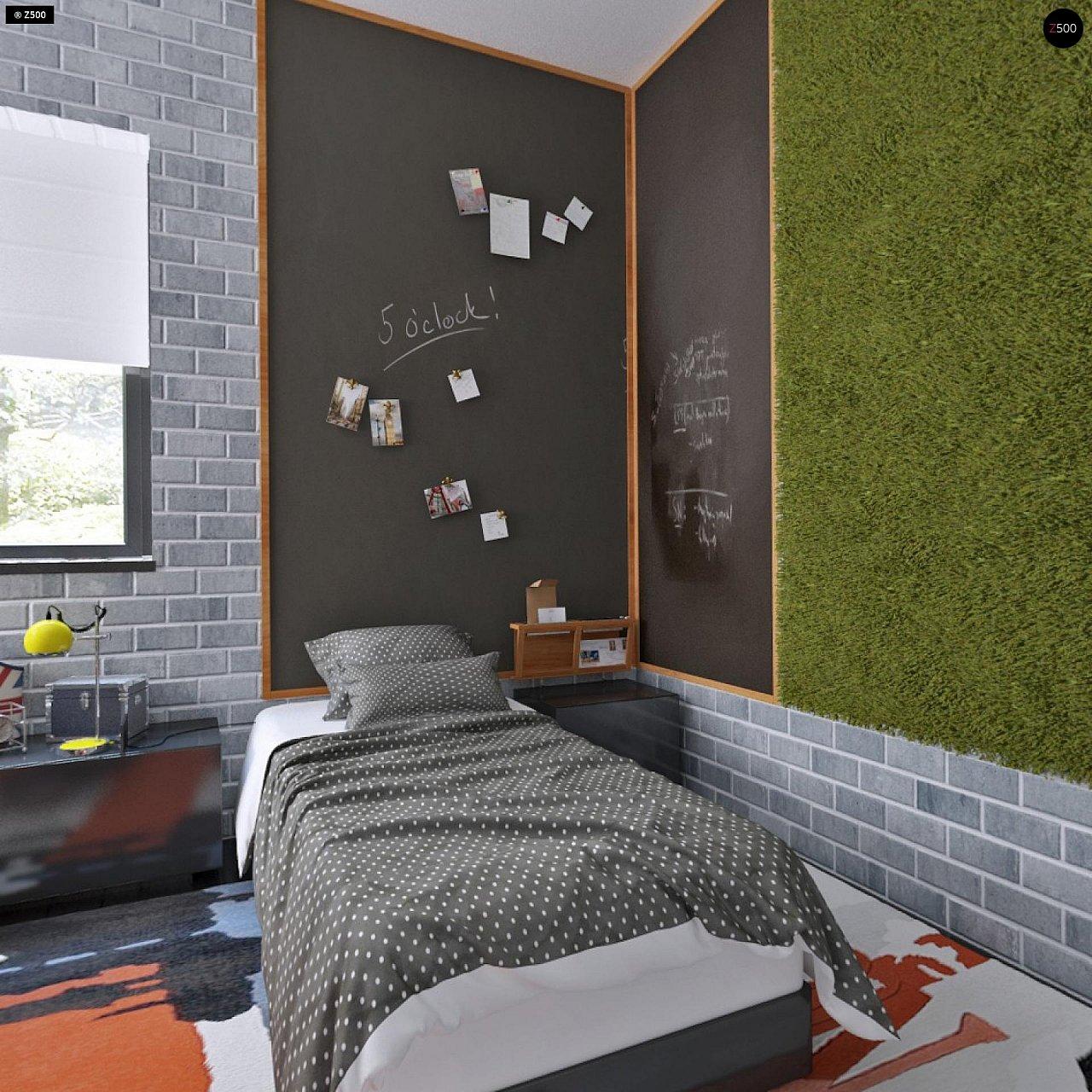 Проект функциональный двухэтажный дом с 4 спальнями и подвалом. - фото 20