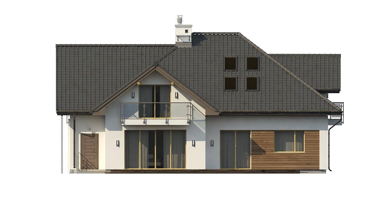 Просторный дом с большими фасадными окнами, с гаражом для двух автомобилей. - фото 7