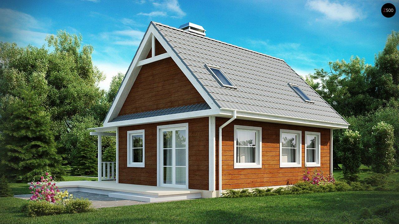 Маленький, уютный дом с мансардой, двускатной крышей и c фронтальной террасой. - фото 2