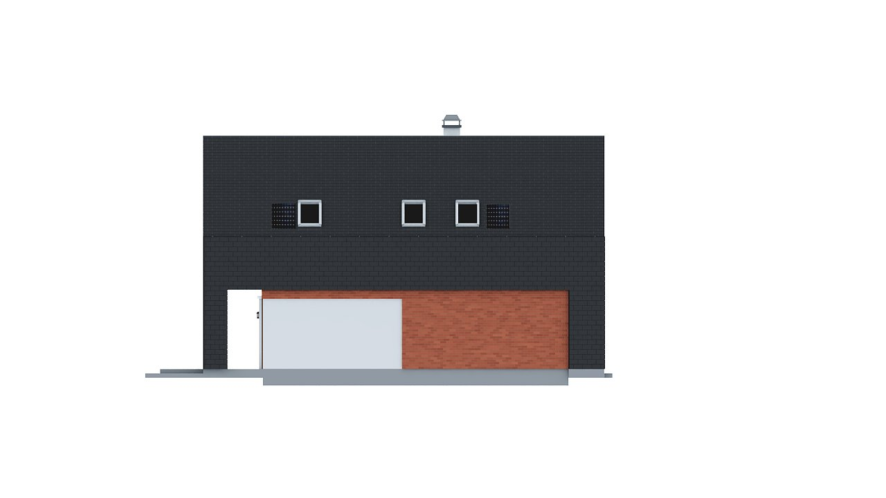 Практичный и уютный дом с модернистскими элементами в архитектуре. 14