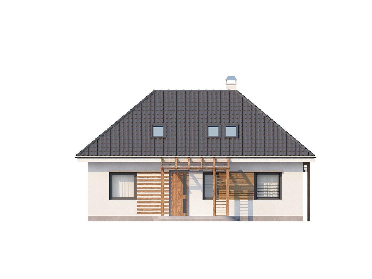 Удобный и красивый дом традиционного характера с двумя дополнительными спальнями на первом этаже. 3