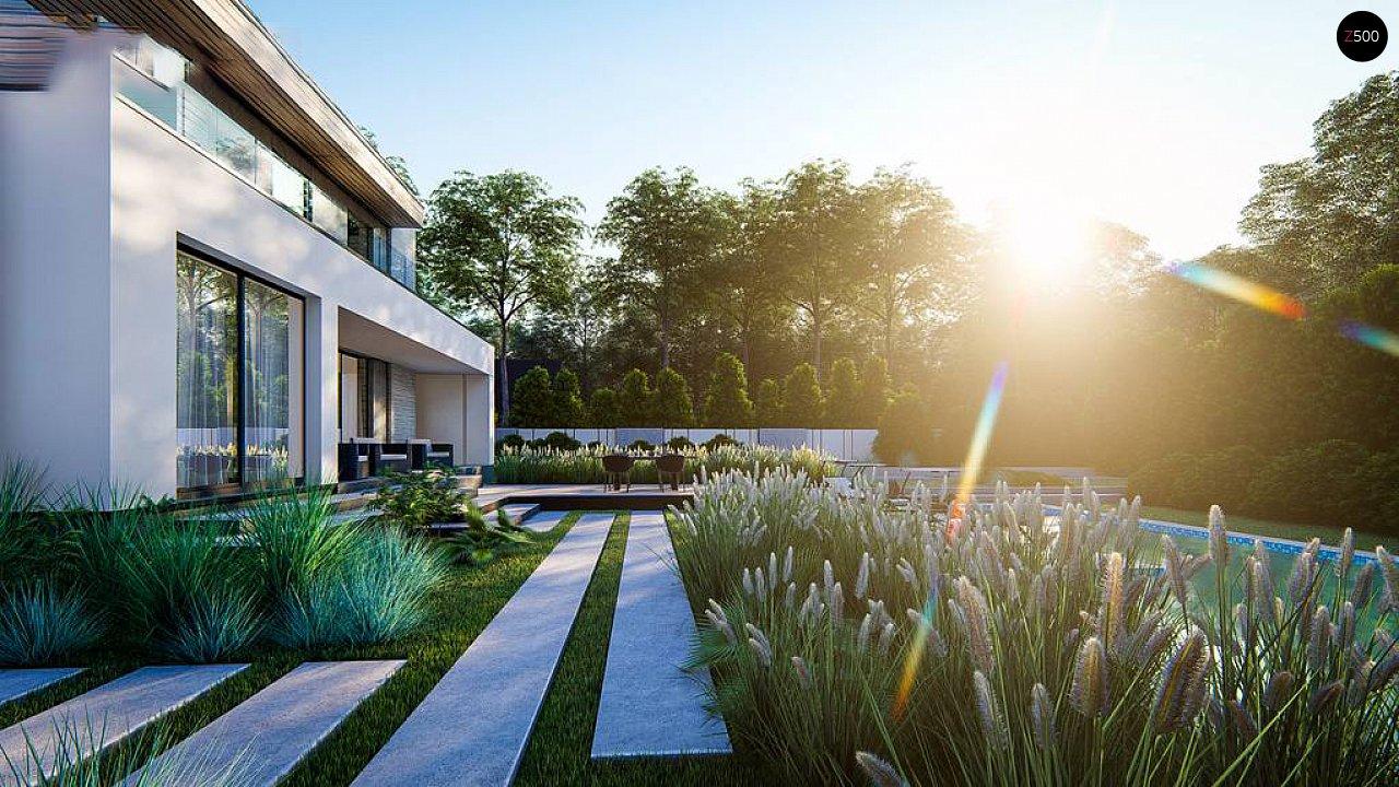 Современный двухэтажный дом с плоской крышей и гаражом на 2 машины. 8