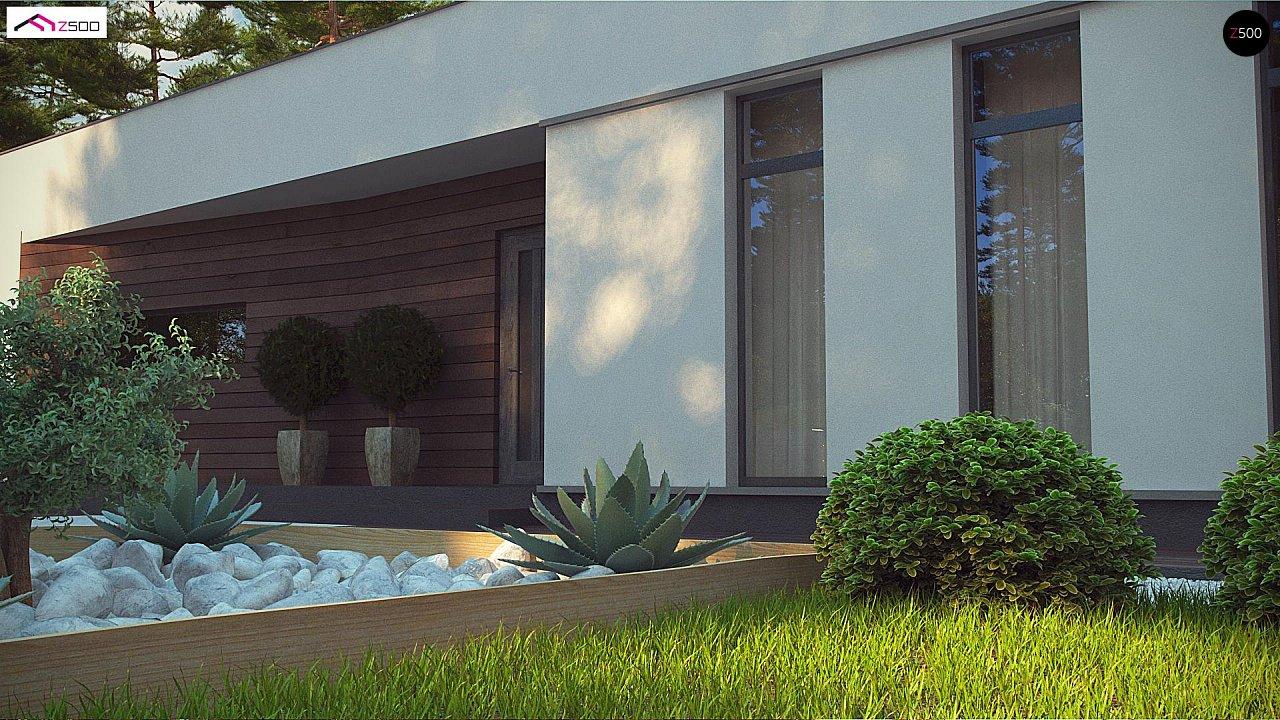 Современный одноэтажный дом с боковой террасой 7