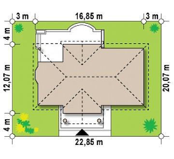 Зеркальный вариант увеличенного дома Z2 план помещений 1