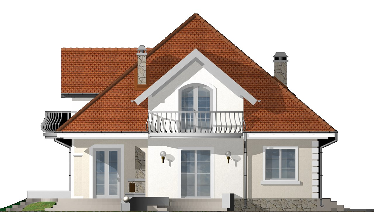 Версия проекта Z18 c кирпичной облицовкой фасадов. - фото 23