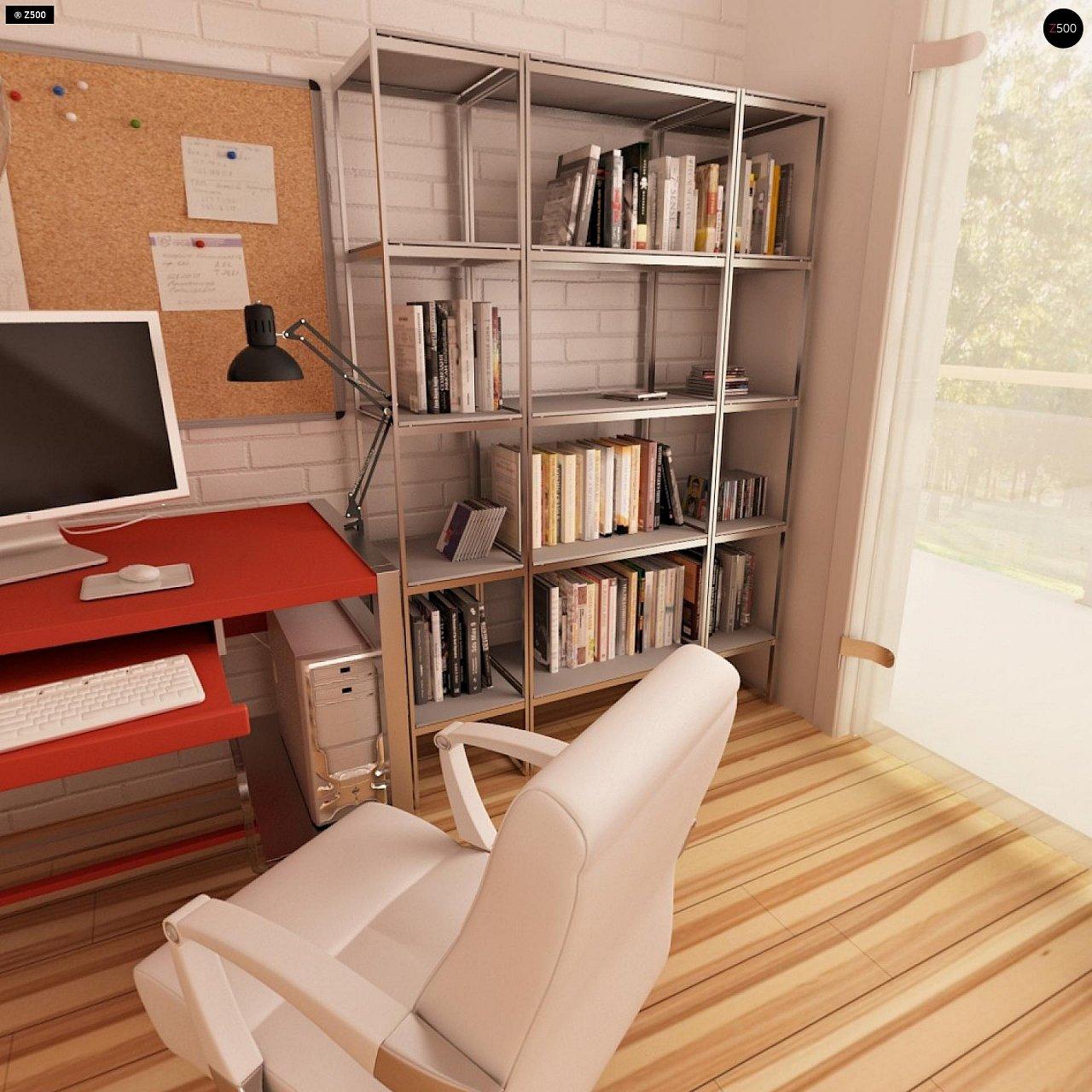 Современный дом с уютным и функциональным интерьером. Интересное сочетание двускатной крыши и кубических форм. - фото 13
