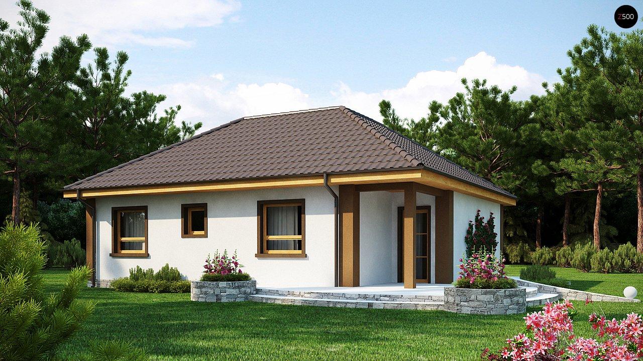 Небольшой комфортный одноэтажный дом в форме буквы «L» с тремя спальнями. - фото 1