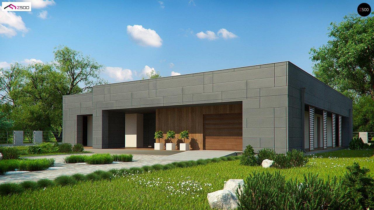 Современный односемейный одноэтажный дом с плоской крышей - фото 8