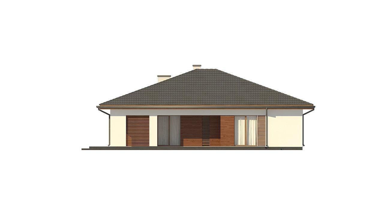 Стильный одноэтажный дом с комфортной крытой террасой 23