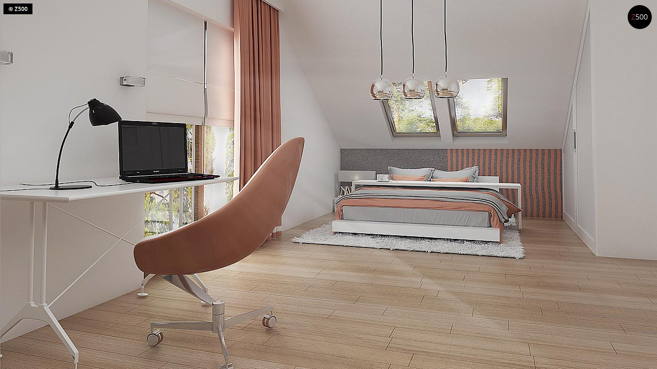 Стильный современный дом с пятью спальнями и гаражом. 13