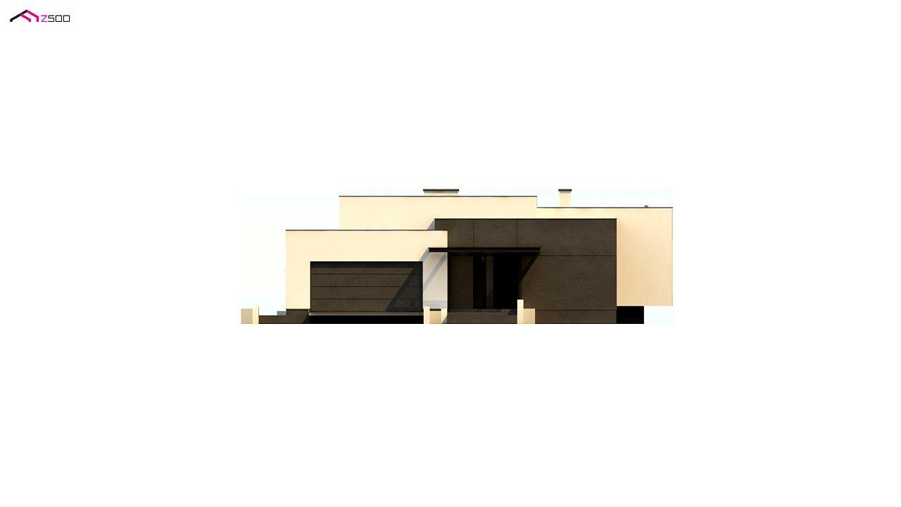 Проект современного одноэтажного дома с плоской кровлей. - фото 15