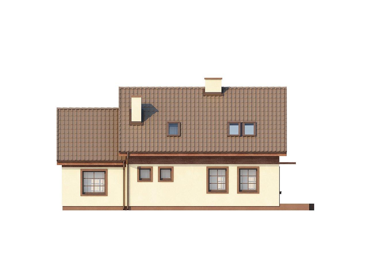 Практичный дом с гаражом, с красивым мансардным окном и боковой террасой. 4