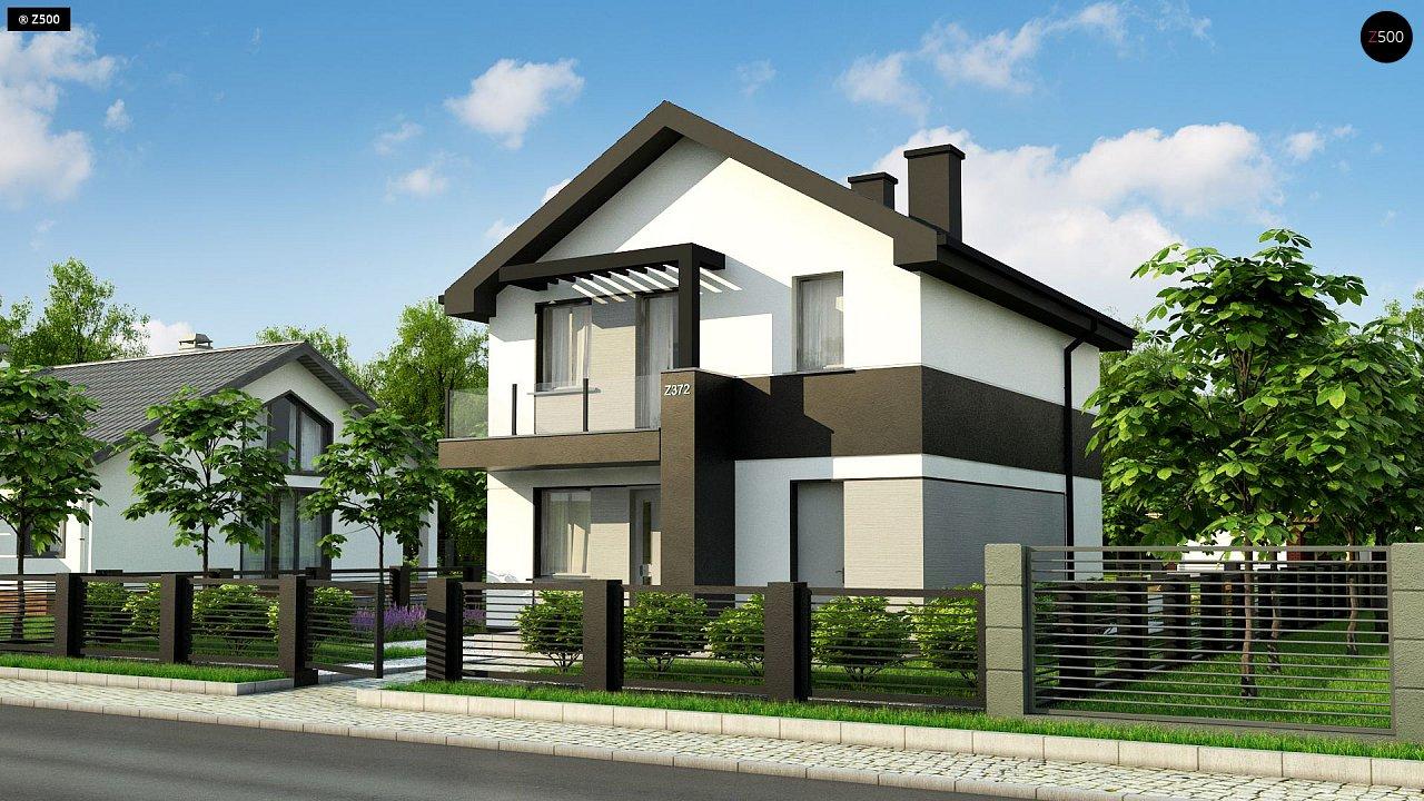 Компактный двухэтажный дом для узких участков. - фото 1