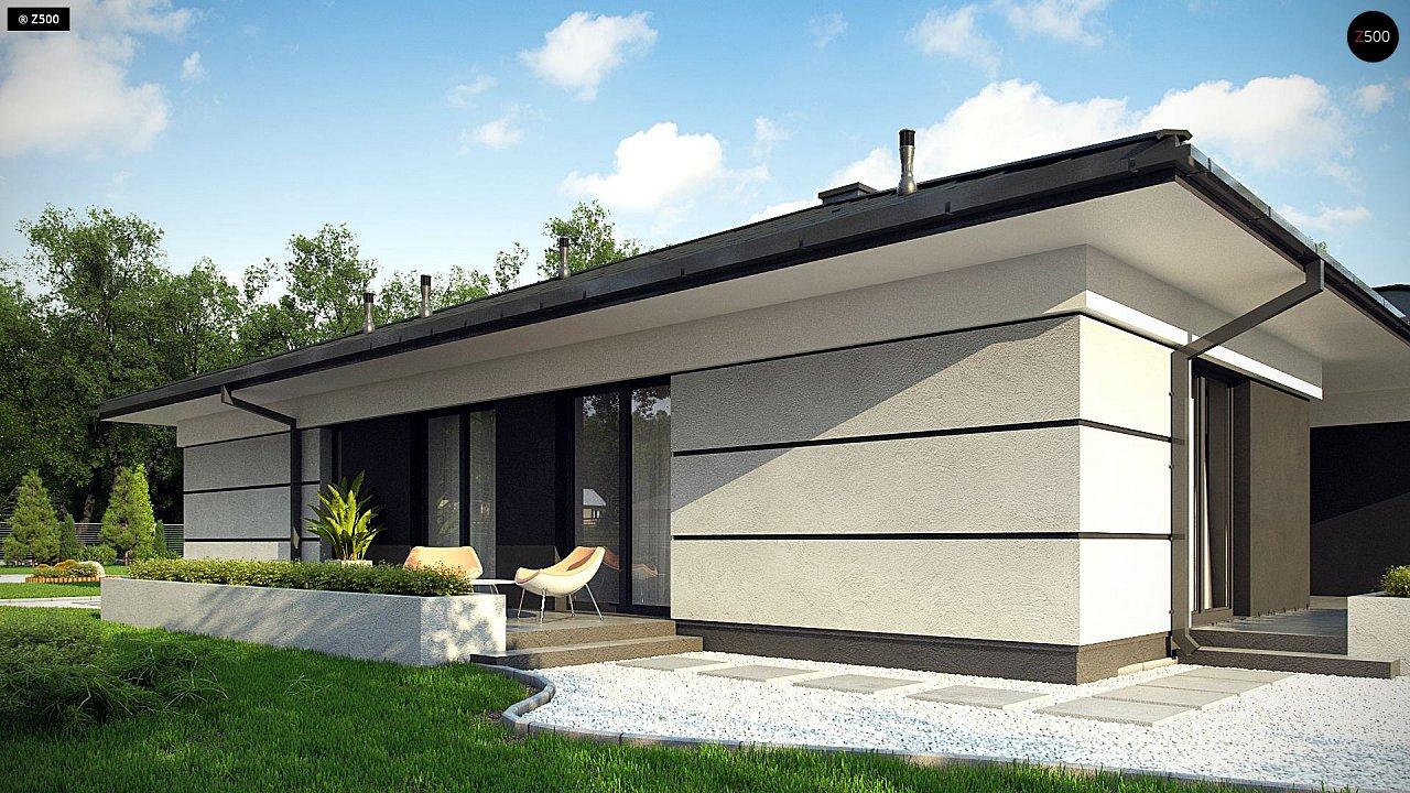 Проект одноэтажного дома с гаражом на две машины - фото 6