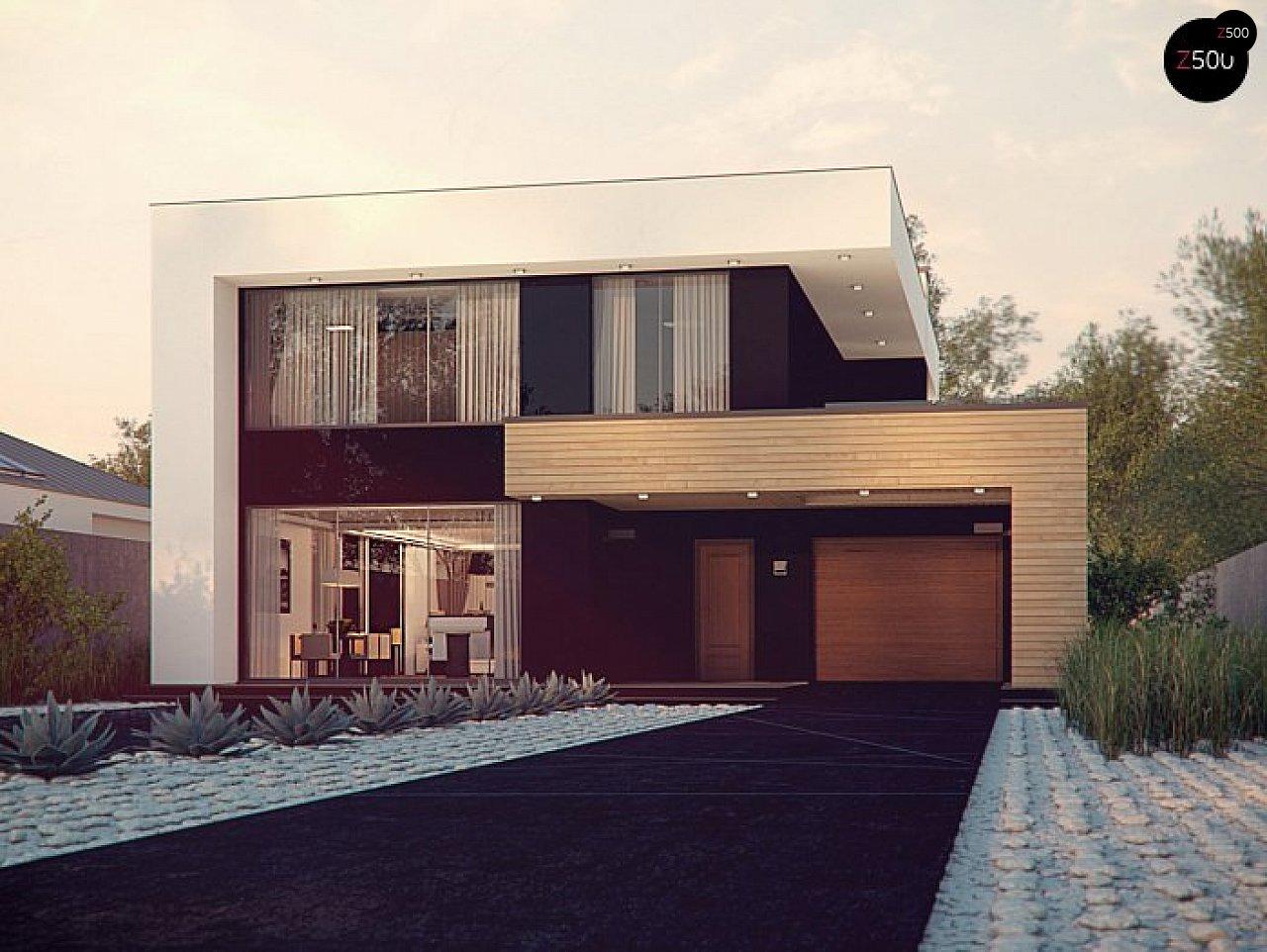 Респектабельный большой дом в модернистском стиле с подвалом. 1