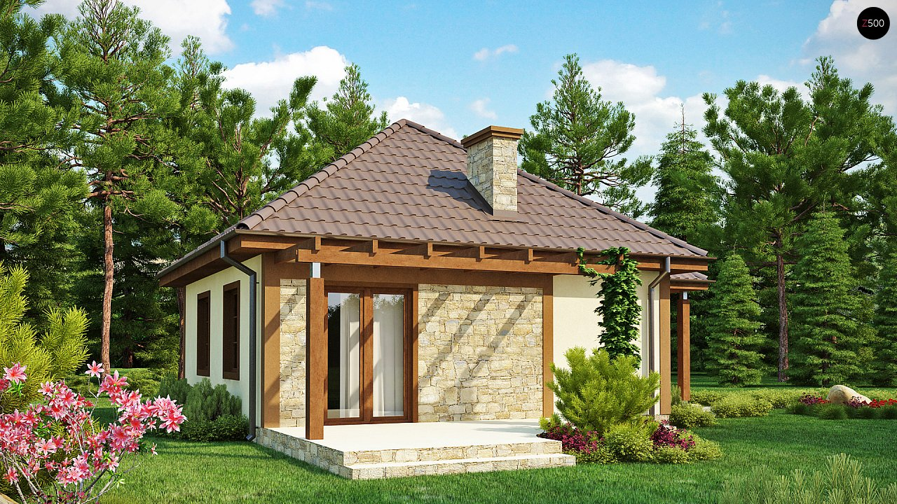 Проект маленького уютного дома с функциональной планировкой. Оснащен всем необходимым для постоянного проживания. - фото 2