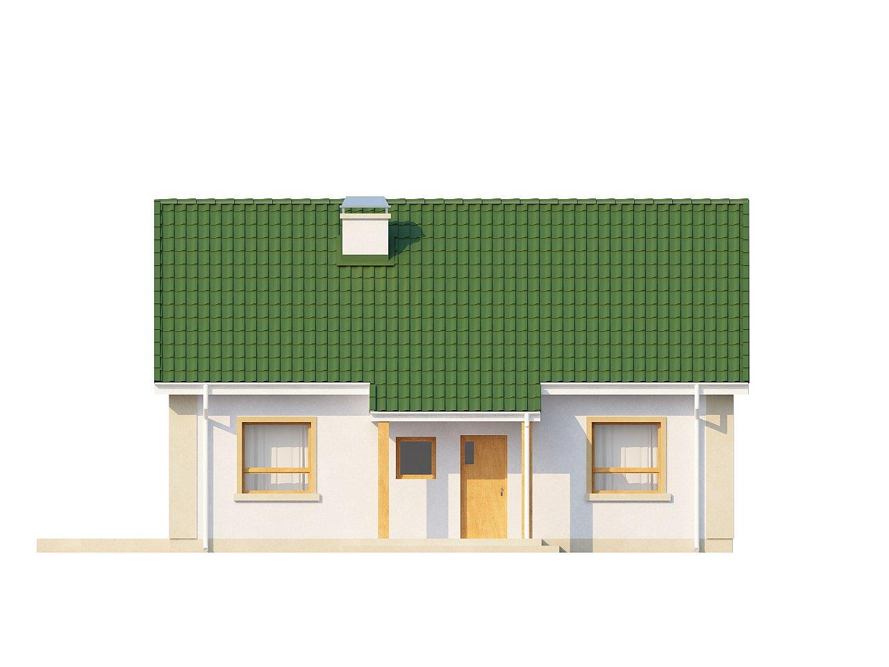 Простой в реализации дом с двускатной крышей, с возможностью обустройства мансарды. 15