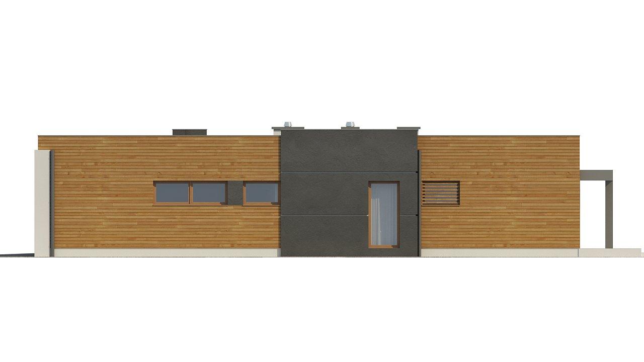 Одноэтажный дом модернистского характера с гаражом для двух автомобилей. 24