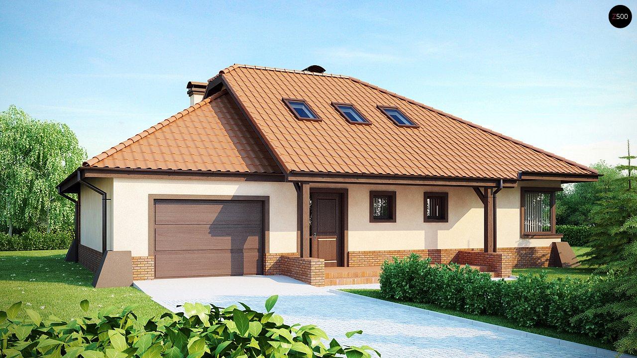 Просторный дом с гаражом, большим хозяйственным помещением и угловой террасой. - фото 2