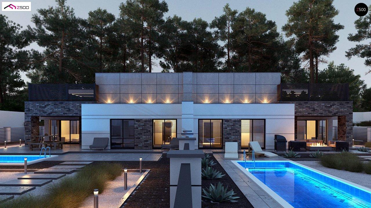 Современный большой дом с плоской крышей - фото 6