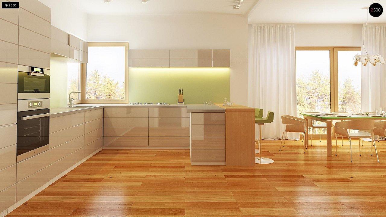 Комфортный элегантный дом с тремя спальнями и выступающим фронтальным гаражом. 9