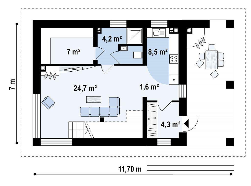 Проект бани с дополнительными комнатами отдыха план помещений 1