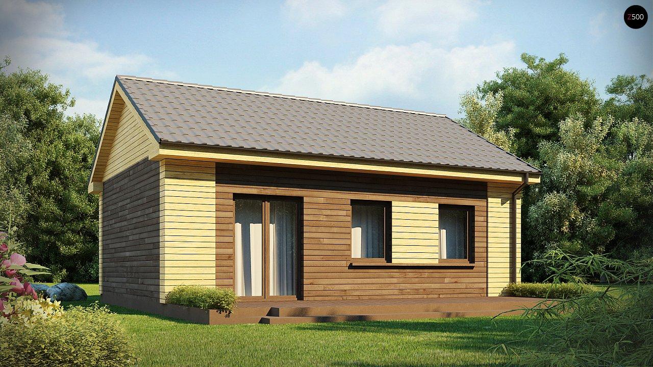 Маленький одноэтажный дом с двускатной кровлей, недорогой в строительстве и эксплуатации. - фото 4