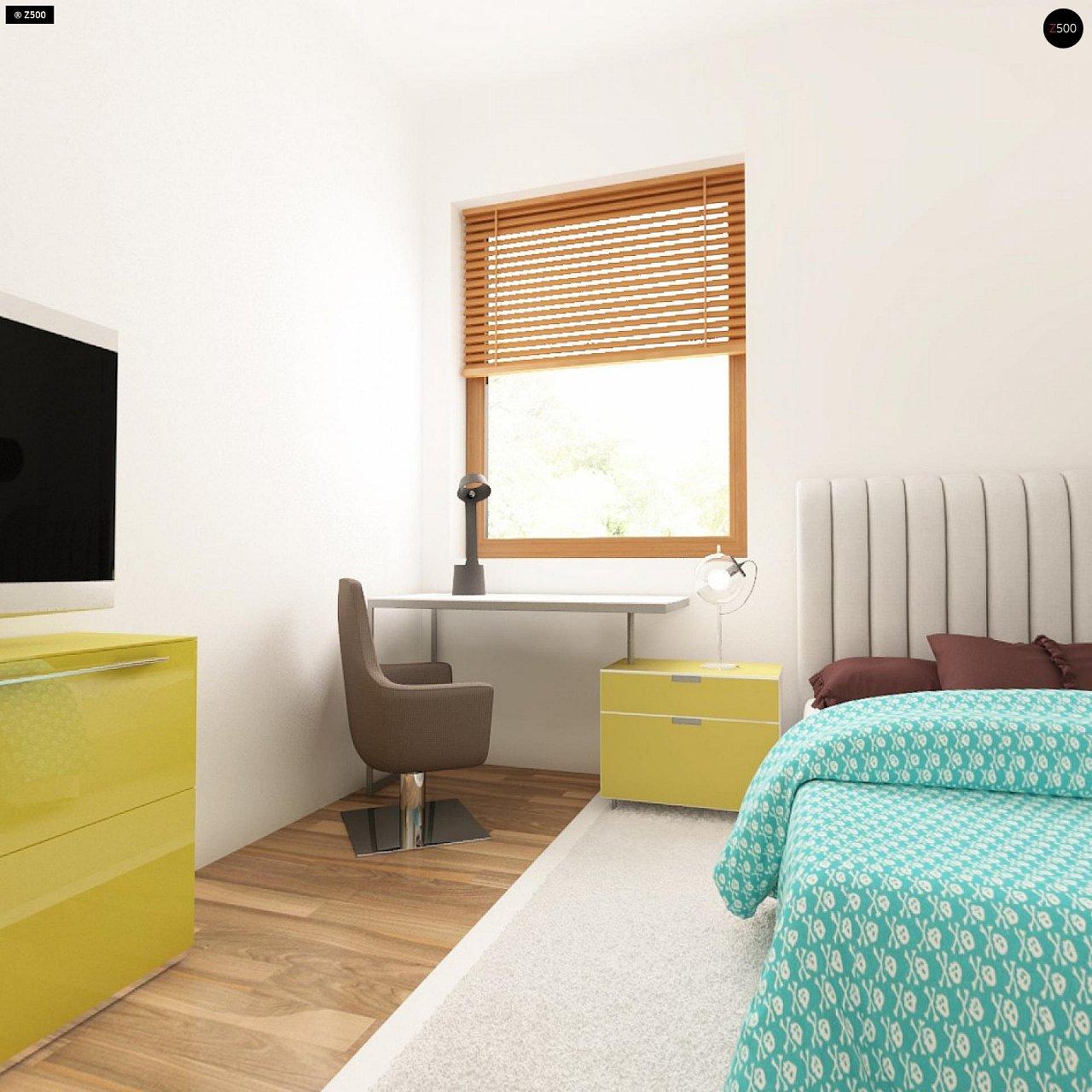 Проект одноэтажного практичного и уютного дома с крытой террасой. 20