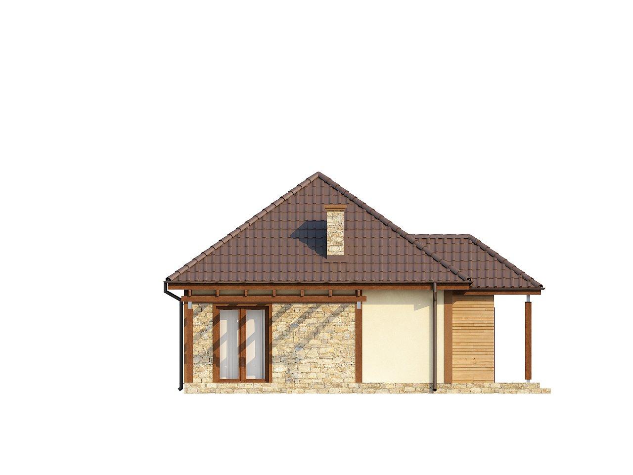 Проект маленького уютного дома с функциональной планировкой. Оснащен всем необходимым для постоянного проживания. - фото 4