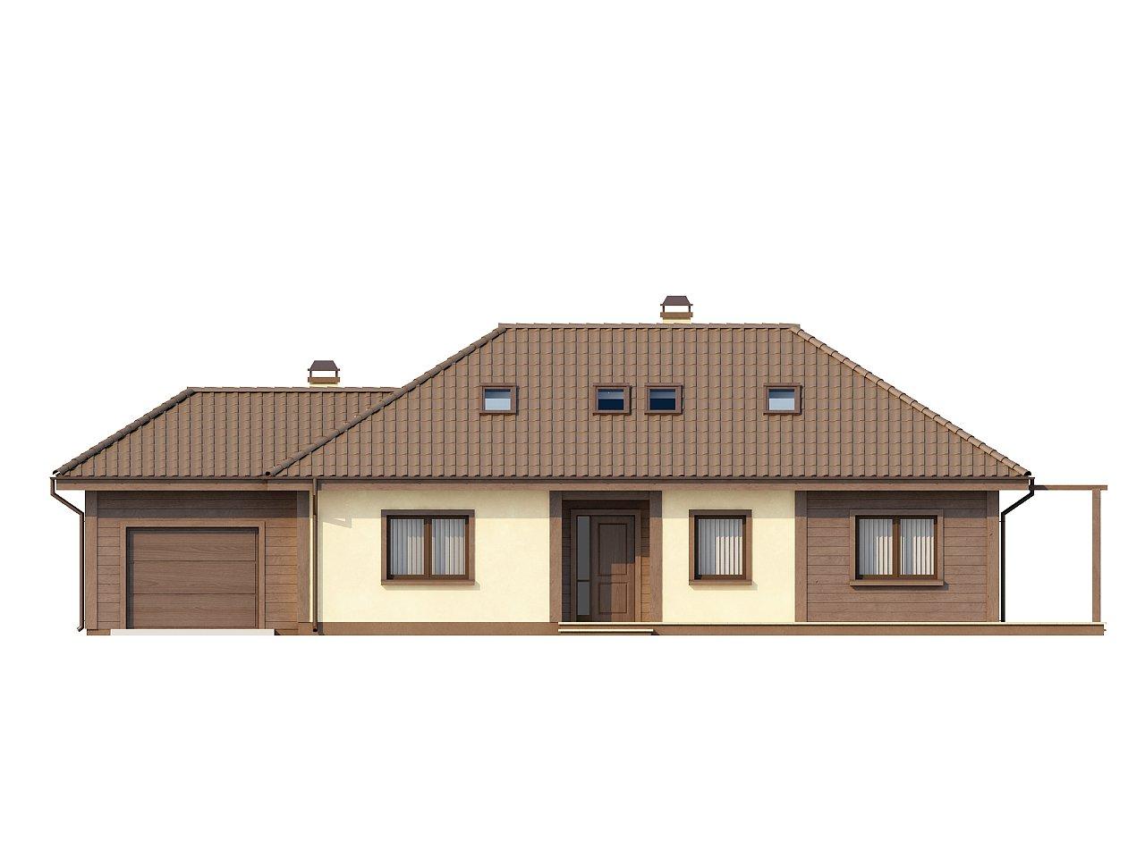 Просторный дом в традиционном стиле с двумя спальнями на мансарде. 3