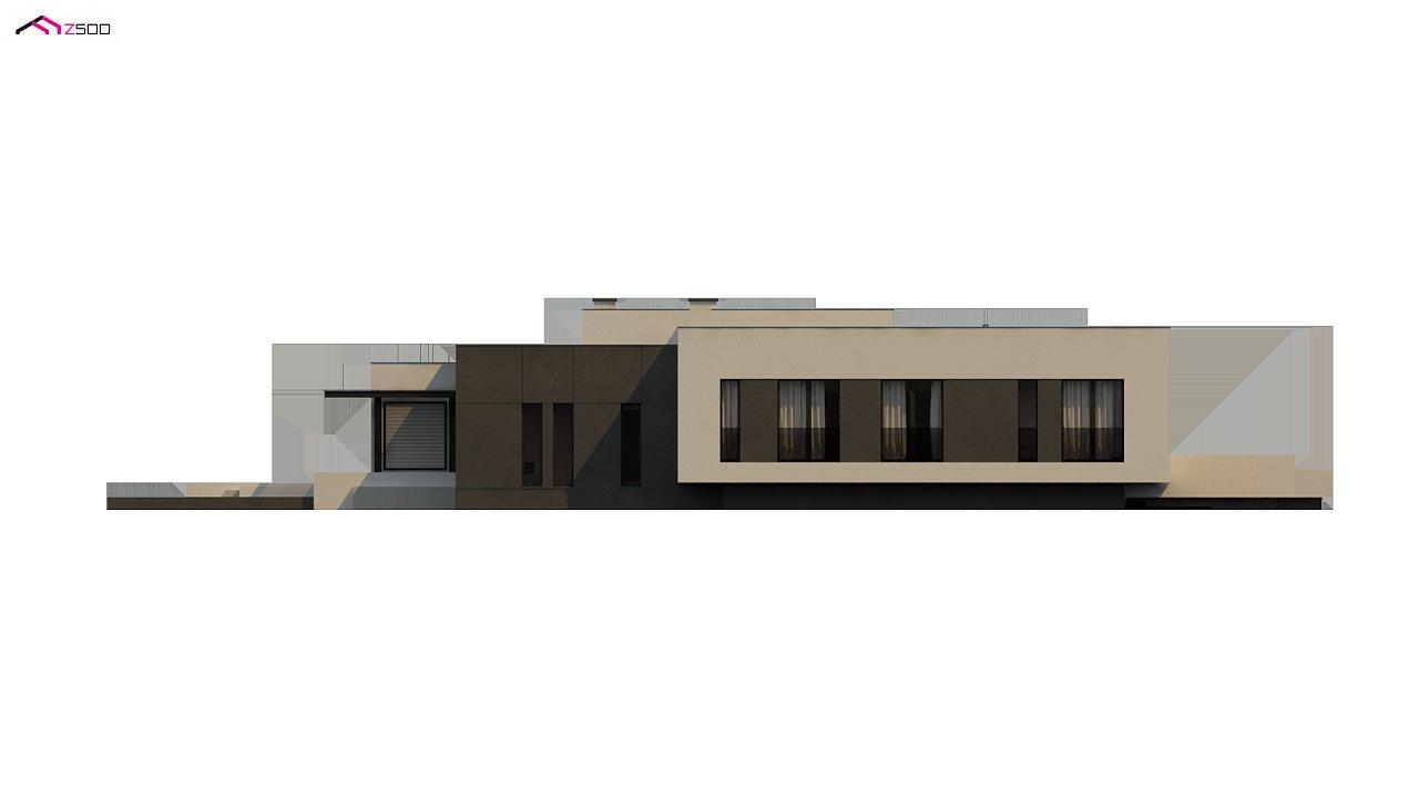 Проект современного одноэтажного дома с плоской кровлей. - фото 18