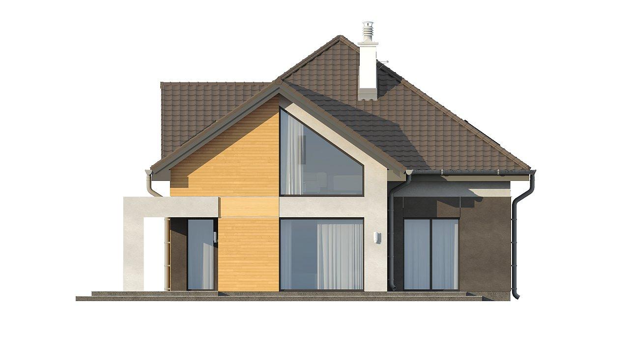 Необычные мансардные окна, фронтальный гараж и современные фасады выделяют этот проект среди остальных. 15