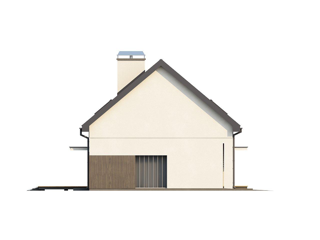 Функциональный традиционный дом с современными элементами в архитектуре, со встроенным гаражом. 15